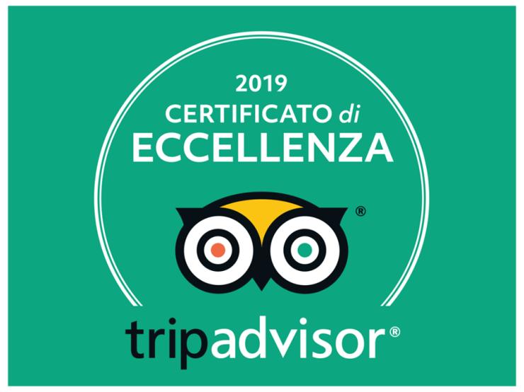 Certificato di Eccellenza 2019 TripAdvisor